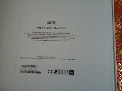 Apple Ipad 7th Generation 32gb Wifi + Cellular EE Gold 2019 BRAND NEW UNOPENED
