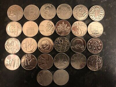 A-Z 10P 2018 Circulated Singles And Set Alphabet - Multi Listing