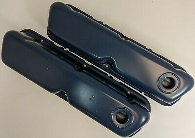 62-85 Small Block 260 289 351W SBF Ford 302 Dark Blue Steel Valve Covers New