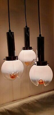 Vintage Gaetano Sciolari For Mazzega Murano ,Italian Glass Pendant Lights 1970s
