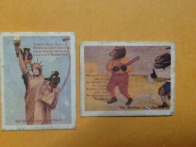"Two Vintage 1970's ""Cracker Jack Bears #4 and #12 - Mini Postcard"" Prize Premium"