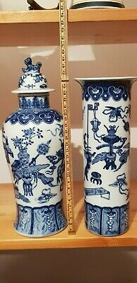 18th /19th Century FINE Chinese BLUE & WHITE Porcelain VASE SEE PICTURES CLOSELY