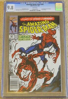 Amazing Spider-Man #361 - 1St Full App Of Carnage - Cgc 9.8  Nm/Mt - White Pages