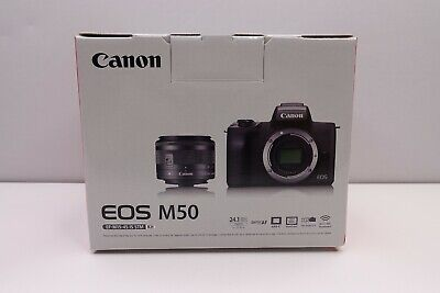 CANON EOS M50 MIRROLESS CAMERA KIT WITH EF-M 15-45MM f/3.5-6.3 IS STM ZOOM LENS