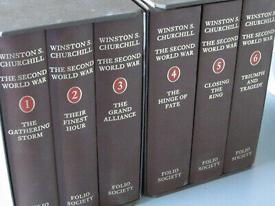 2000 Folio Society-Winston Churchill-The Second World War-6 Volume Book Set-Wwii