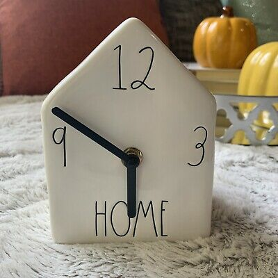 Rae Dunn LL Ceramic Birdhouse HOME Clock Long Letter - Brand New!