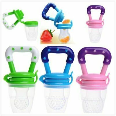 Baby Fruit Feeder Pacifier Fresh Fruit Silicone Dummy Soother Weaning Nipple X3