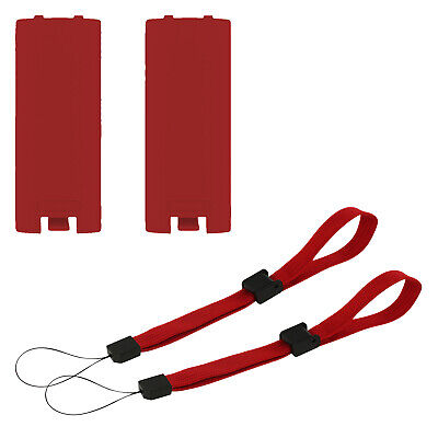 Battery cover & Wrist strap set for Wii remote controller - red   ZedLabz