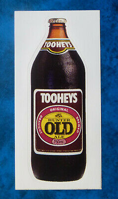 TOOHEYS OLD ALE ..  Original Vintage  1980,s  Pub  Beer Fridge sticker