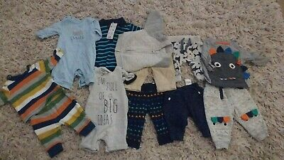 Baby boy up to one month bundle, tops, bottoms, all in one, Mothercare, Tesco, n