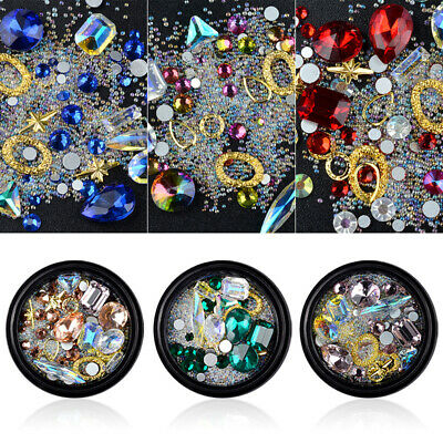 Rhinestone Nail Art Glitters Jewelry Nail Decors Glass Diamonds Crystal Manicure