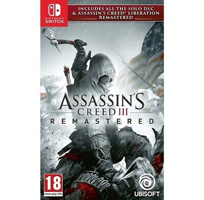 Assassin's Creed 3 Remastered For Nintendo Switch (New & Sealed)