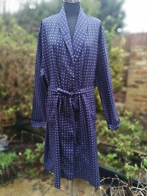 Vintage Tootal Dandy Paisley Dressing Gown Smoking Jacket Made In Britain Size L
