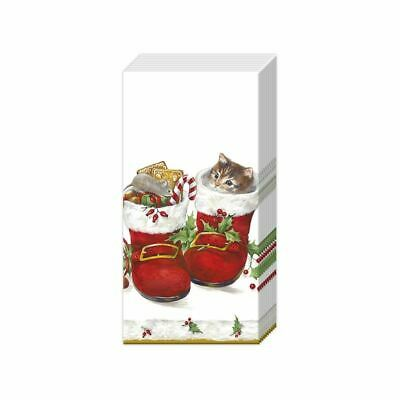 ICY X-MAS FOR YOU Christmas Mouse and Present 2 packs of IHR Paper Pocket handbag Tissues