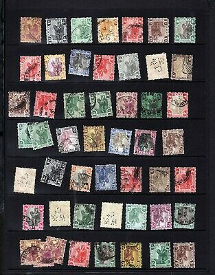 MALAYA FEDERATED MALAY STATES TIGER STAMPS COLLECTION (about 50) inc PERFORATION