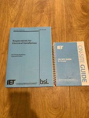IET Wiring Regs Book 18th Edition BS 7671:2018 & IET On Site Guide *Bundle Deal*