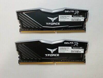 Team T-Force Delta RGB 16GB (2 x 8GB)  DDR4 3200 (PC4 25600) Memory (BLACK)