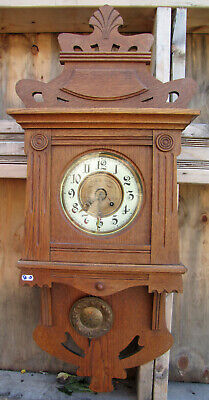 Antique German Wall Clock  Gustav Becker - Jugend Style - 1895s.Free Shipping.