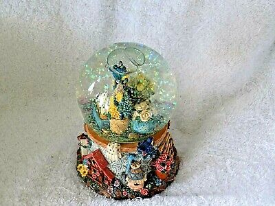 Collectible Garden Theme Snow Globe Snowdome Musical Plays As Time Goes By