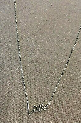 "16"" Tiffany & Co. Sterling Silver Paloma Picasso Graffiti ""Love"" Necklace"