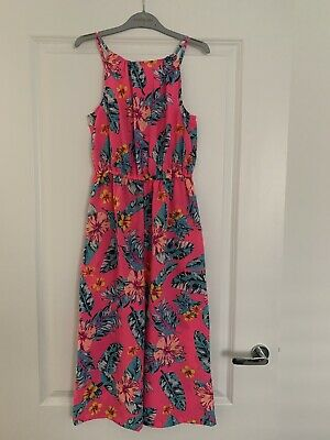 Matalan Girls Pink Floral Jumpsuit - Age 12 Years - NEW