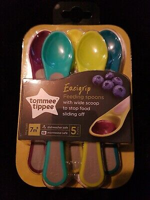 H1 Tommee Tippee Easigrip Baby Spoons Pack Set Brand New