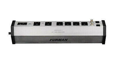 Furman PST-6 Audio AC Power Conditioner Surge Protector, Silver.