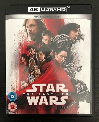 Star Wars: The Last Jedi 4K Ultra Hd Blu Ray Disc Uhd ***Brand New Sealed***