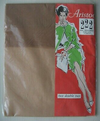Vintage Aristoc 222 Full Fashioned Point Heel 15 Den. Stockings 10.5 Col Mexico