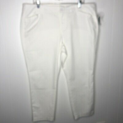 Old Navy Women's Mid Rise Pixie Chino Ankle Pants Size 18 Petite Stretch NWT
