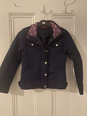 Ted Baker Girls Navy Blue Lightweight Jacket Coat Age 9 Years