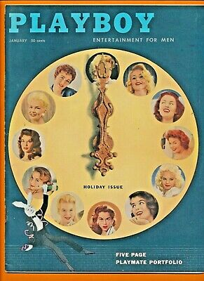 1957 Playboy Complete Year Set(12 issues)FINE+ CONDIITON Pages firmly attached