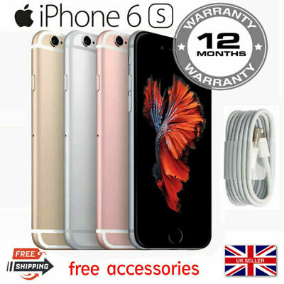 Apple Iphone 6S 128GB Sim Free Unlocked Smartphone UK + Plus Gift
