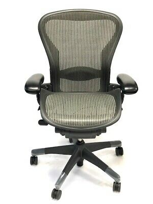 Aeron Fully-Loaded Lumbar Support Size B Nickel Mesh (3D03) By: Herman Miller