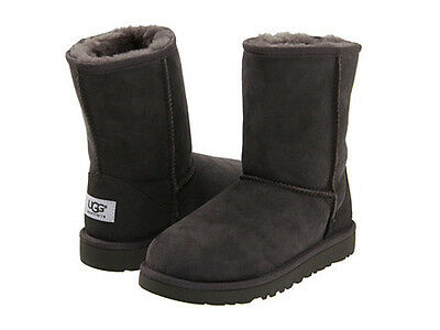 New Kids Boys Girls Youth Women Ugg Australia Classic Short Grey Gray 5251 K Org