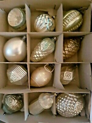 Antique Glass German & Poland mix Figural Embossed Ornaments Germany