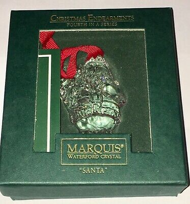 Waterford Crystal Marquis Christmas Ornament Santa, in box free shipping