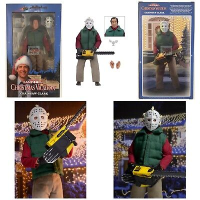 """CHAINSAW CLARK Christmas Vacation NATIONAL LAMPOONS Neca 8"""" INCH 2017 Figure"""