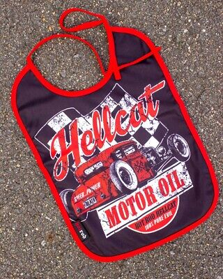 Hotrod Hellcat Kustoms Bib Baby Feeder Gift Rockabilly Cool Punk Shower Skull