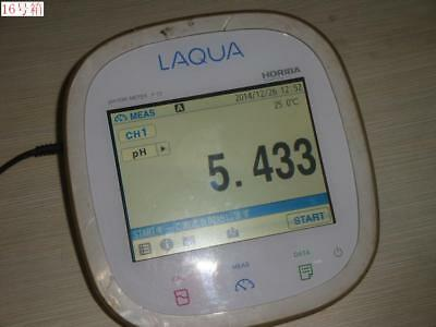 LCD Have Water Stain HORIBA LAQUA F-72 Benchtop pH/Water Quality Analyzer