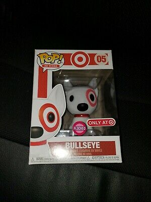 Funko Ad Icons Target Exclusive Flocked Bullseye POP! with Red Collar