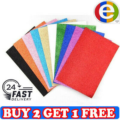 30 GLITTER PAPER SHEET- For Sparkly Craft Making Bows Gifts Fancy Dress 250 GSM