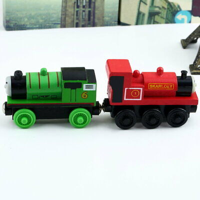 The Train  Engine Wooden Child Toy 3 pairs of wheels KidsGifts