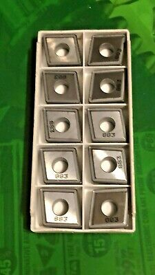 Lot Of 10 Carbide Inserts Cnmg 644-Mr4  883 Seco  Edp 47162