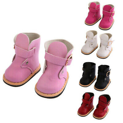 Fashion PU Leather Boots Shoes Clothes Accessories For 18 Inch Girl Doll
