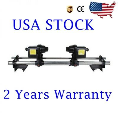 74'' Auto Media Take up Reel System Paper Pickup /Receiver Roller with 2 Motors