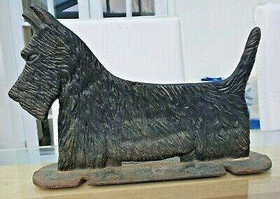 Wonderful C19th Victorian Cast Iron Door Stop/ Foot Scraper SCOTTIE DOG