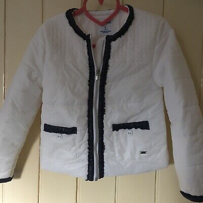 Mayoral Girls Padded Jacket, Coat, Size Age 6 White