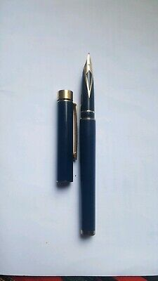 Sheaffer Targa Blue Fountain Pen 14K Nib USA 585