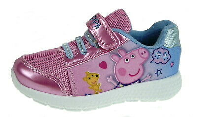 Girls Peppa Pig Trainers Kids Character Lightweight Sports Shoes Nursery Size